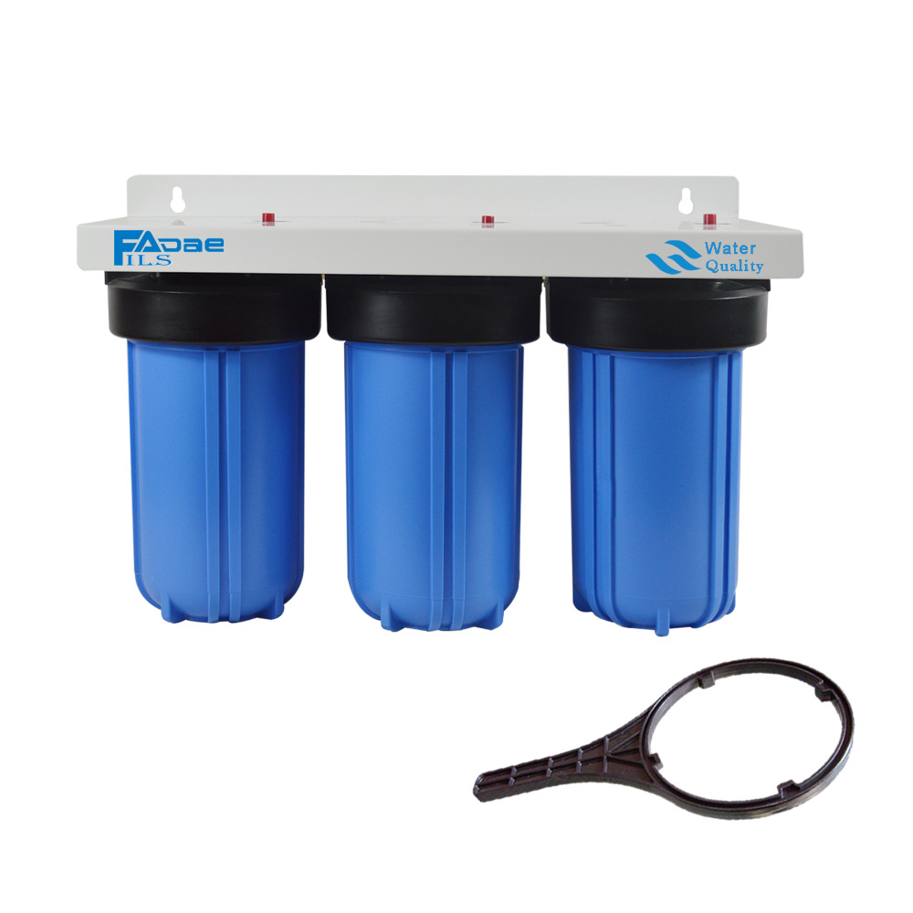 Whole House 3-Stage Big Blue Water Filter System with Sediment, Activated Carbon and Carbon Block Replacement Filters-10x4-1/2 5 inch coconut shell cto carbon block water filter for whole house