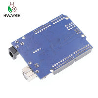 HWAYEH high quality One set UNO R3 CH340G+MEGA328P Chip 16Mhz For Arduino UNO R3 Development board + USB CABLE 3