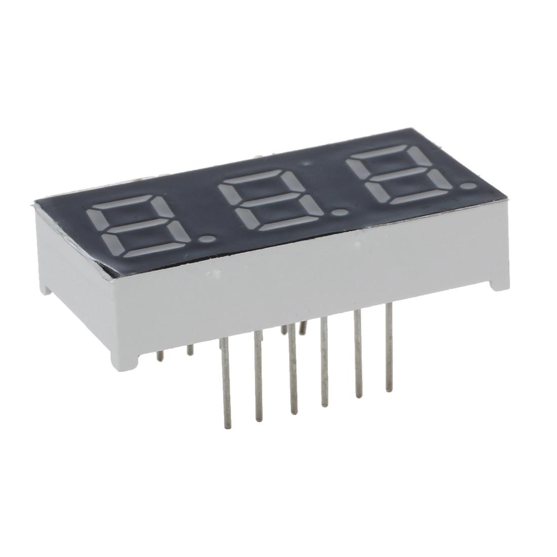 DSHA New Hot 5 Pcs Common Cathode 12 Pin 3 Bit 7 Segment 0.4