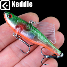 1PC 18g 6.5cm Winter Fishing Baits VIB Laborious Baited Leaded Ice Fishing Internal Cable Jig Wobbler Rotating Sea Fishing Sort out