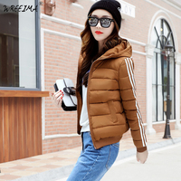 Plus Size XXL 3XL Thin Winter Hooded Jacket Women 2018 Autumn Ultra Light Parka Coat Padded Jackets Black Casual Clothes XZ37
