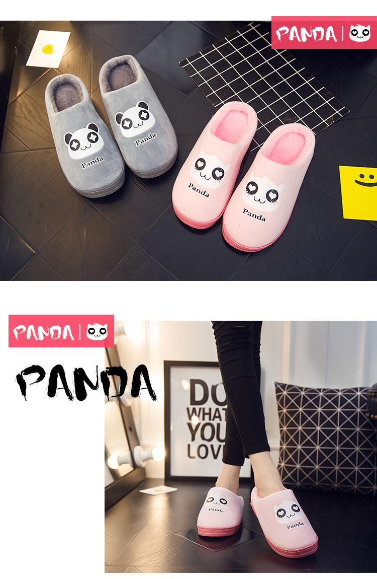 d3083c70c 2018 Bodensee Cute Panda Eyes Women Cute Slippers Lovely Cartoon Indoor  Home Soft Shoes Women Slippers Ladies Flip Flop S0068.  20181212161836 A0  A1 A2 A3 ...