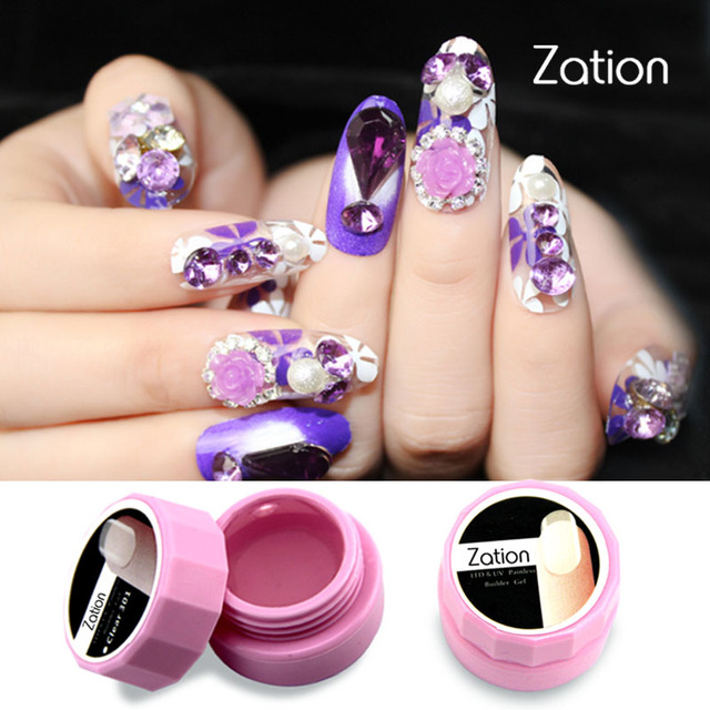 Zation Acrylic Nail Uv Builder Pink White Clear Color Gel Acrylic