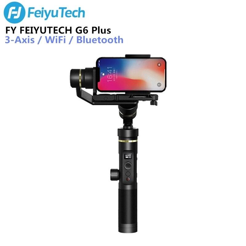 FY FEIYUTECH G6 Plus Handheld Gimbal Stabilizzatore 3-axis WIFI Bluetooth Schermo OLED per la Macchina Fotografica di Azione di Fotocamere Digitali Smartphone