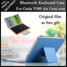 Original Bluetooth Keyboard Case for Onda V989 air Octa core 9.7 inch Tablet PC freeshipping+Screen protection film as gift