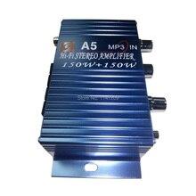 Del coche del Vehículo 150 W DC 12 V-18 V De Aluminio Mini Hi-fi Stereo Amplificador de Energía Audio amperio 3.5mm puerto Azul