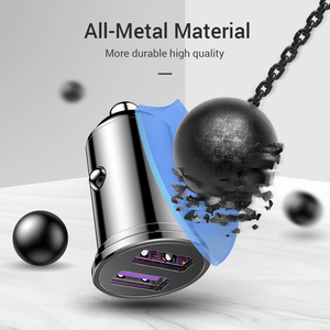 Image 5 - Fivi デュアル usb 高速車の充電器すべての金属車の充電器 pd qc 3.0 ミニ自動車電話充電器 iphone 11 プロサムスン huawei xiaomi