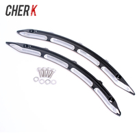 Cherk New Motorcycle parts Black CNC Legacy Rear Fender Side Accents For Indian Scout Models EXCEPT Bobber 2015 2018 17 16