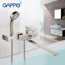 GAPPO Bathtub Faucet water mixer shower set wall waterfall bathroom sink faucet tap restroom faucet in hand shower GA2207-5