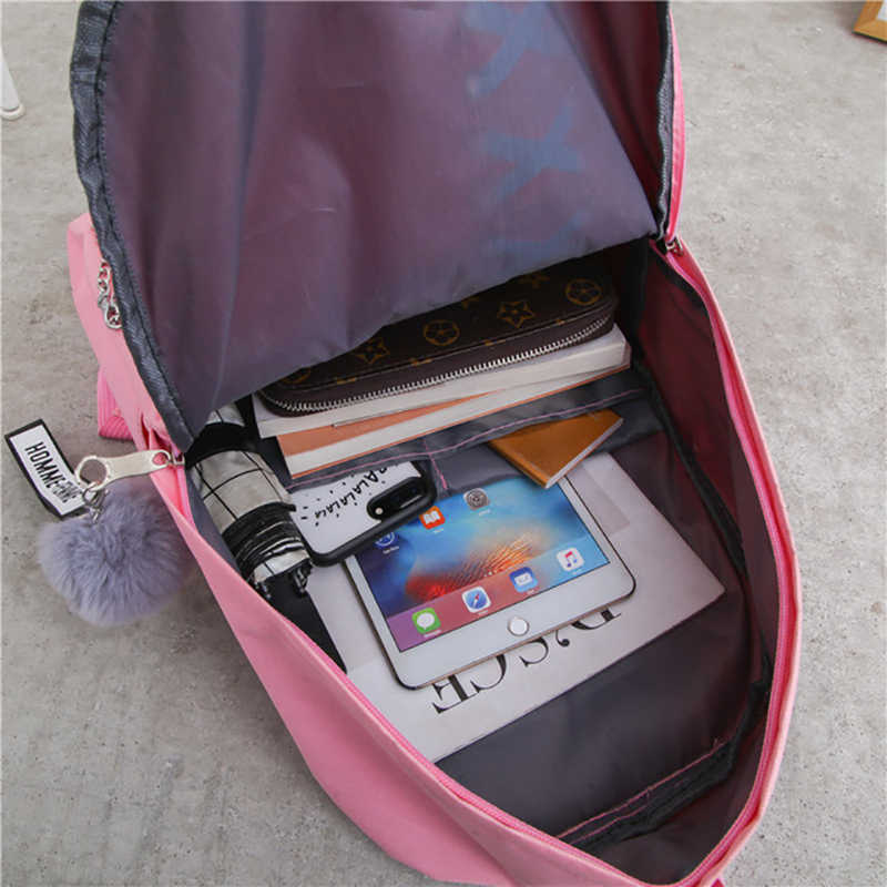 2019 menina saco de escola para adolescente sólida mochila faculdade vento mochila feminina alta estudante saco laço preto arco pacote mochila