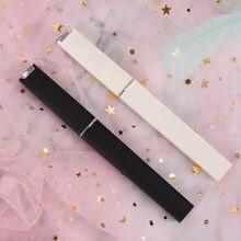 2 pièces/ensemble imprimer noir blanc chat limes à ongles cristal verre lime à ongles avec Faux noir et blanc plaqué plastique étui rigide outils à ongles