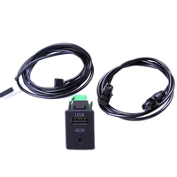 TUKE RCD510 RNS315 OEM USB+AUX IN Switch +Cables Pour VW Passat B6 B7 CC Tiguan 3CD 035 249 A 3CD035249A