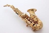 Francuski Wysokiego skoku Bend zakrzywione Saksofon Sopranowy Bb dzwon B Płaskim Saxe Instrument Muzyczny saksofon Saxofone dla Dorosłych dzieci