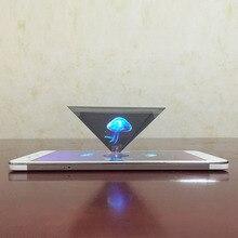 Прямая поставка 3D Голограмма Пирамида дисплей проектор видео Стенд Универсальный для смартфонов 8899
