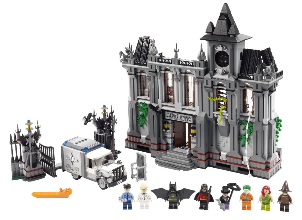 DECOOL Batman Super Heroes Arkham Asylum Breakout Building Blocks Bricks Movie Model Kids Toys Marvel Compatible Legoe moc 1128pcs the batman movie bane s nuclear boom truck super heroes building blocks bricks kids toys gifts not include minifig