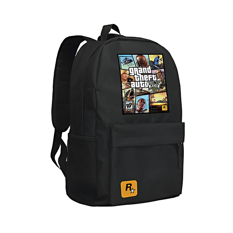 GTA5 Backpack for Boys and Girls Grand Theft Auto V School Bag for Teenagers Mochila GTA 5
