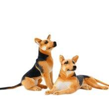30-90cm Giant Dog Plush Toy Realistic Stuffed Animals German Army Dog Shepherd Plush Simulation Pet Dog Toys Gift For Children