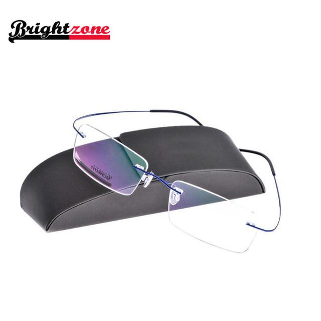 10 colores sin rebordes titanium sin tornillo gafas flexibles gafas rx spectacle prescription marco óptico gafas de grau gafas