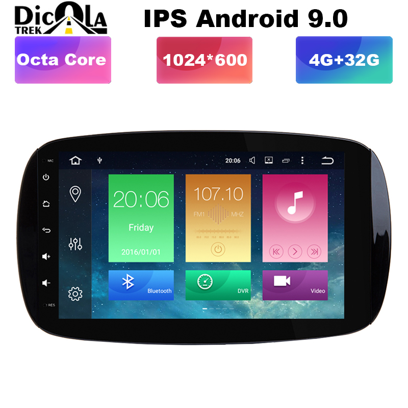 2 + 32G 2 Din autoradio GPS Android 9.1 lecteur DVD de voiture pour Audi A4 B8 S4 B6 B7 RS4 8E 8 H B9 Seat Exeo 2002-2008 Navigation Audio