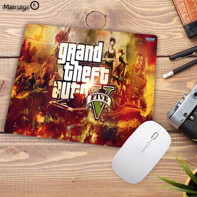 US $1 99 |Mairuige 220X180X2MM GTA V Grand Theft Auto Grand Theft Auto V  Rockstar Games Computer Gaming Speed Mouse Pad Gamer Play Mats-in Mouse  Pads
