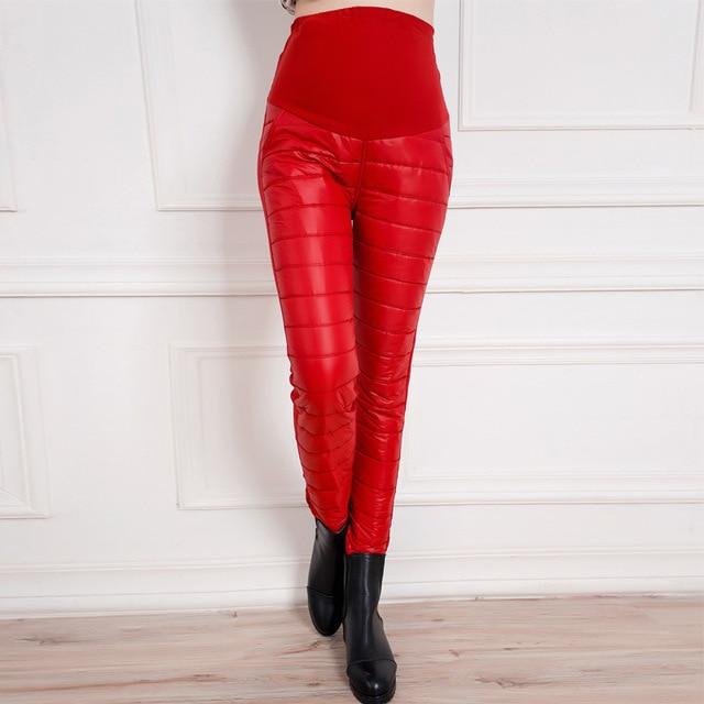 Зима конфеты цвет тёплый для беременных брюки для беременных женщины верхняя одежда