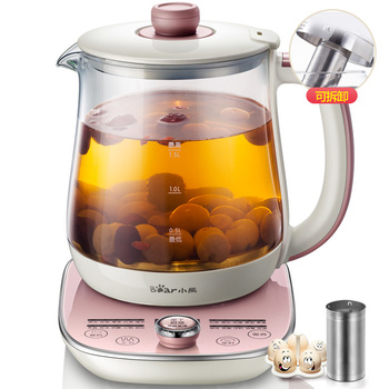 Bear YSH-A15E1 Health Pot Fully Automatic Thicker Glass Multifunction Tea Maker Flower Pots Milk Pot Temperature Display