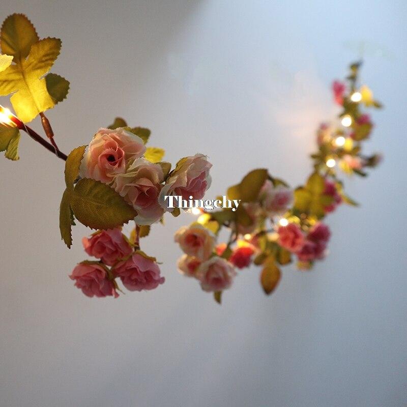 17m little rose flor bateria fio de 02