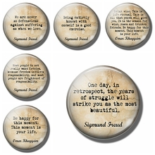 One Day In Retrospect 30 MM Fridge Magnet Sigmund Freud Quotes Glass Dome Magnetic Refrigerator Stickers Note Holder Home Decor