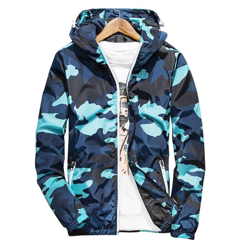 Blaue camouflage jacke