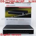 Envío libre DS-7716NI-I4/16 P versión Inglés 16CH NVR con 4 SATA y 16 POE, HDMI de hasta 4 K, ANR, alarma De Grabación de hasta 12 MP
