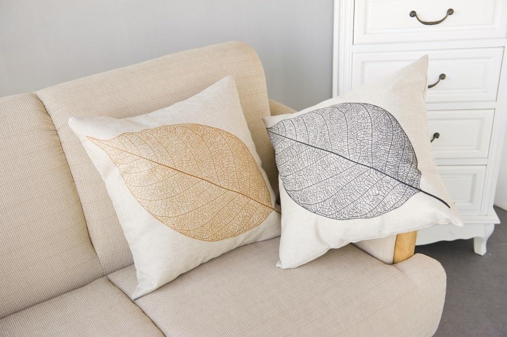 Cotton linen comfort kids bedding sets pillowcase new kids gift pillow cover Gold black leaf