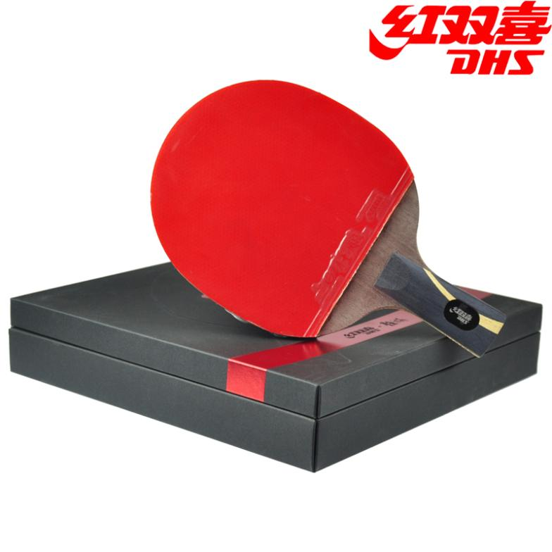 DHS Hurricane King (WANG Liqin) Gift Set Table Tennis Racket (Hurricane 3 Rubber + Balls + Bag Case) Ping Pong Bat цена 2017
