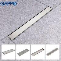 GAPPO Drains stainless steel recgangle anti odor waste drain bathroom floor cover bathroom water drain shower drain strainer