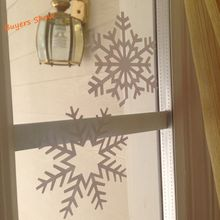 12pcs/set Different Shape Snowflake Vinyl Wall Sticker For Christmas Winter Wall Decals For Windows/Door/ Wall Decoration