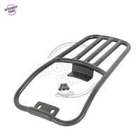 Black Motorcycle Rear Fender Luggage Rack Case For Harley Softail Deluxe 2006 2017 Fatboy 2007 2017