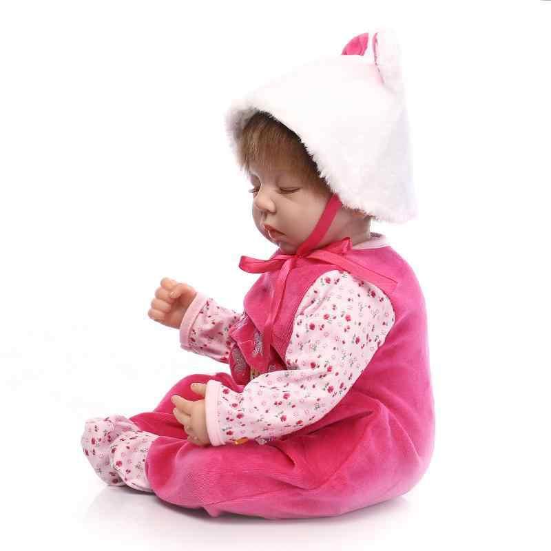 55 см Кукла Reborn Мягкая силиконовая Одежда для новорожденных и кукол Кукла для девочек Рождественский подарок на день рождения реквизит для фотосъемки