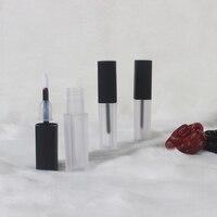 20/50/100pcs 2ml Lipgloss Plastic Tube Empty Transparent frosted Lipgloss Box Eyeliner Eyelash Container Mini Lip Gloss Bottle
