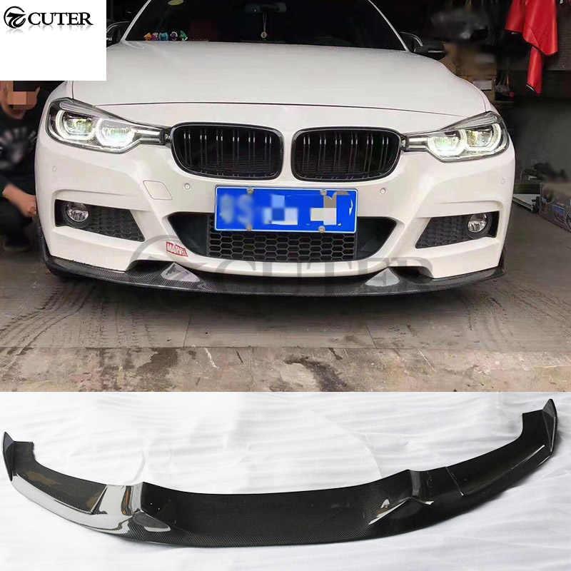 Carbon Fiber P Style Front Bumper Lip Splitters fit BMW F30 F31 3-Series M Sport