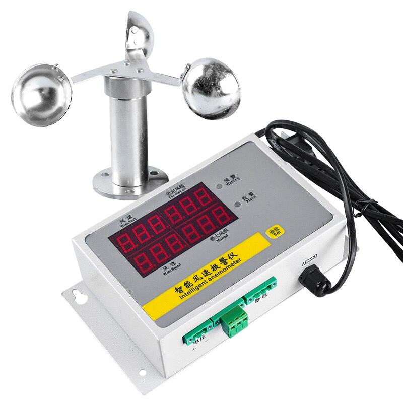 Sensor de Velocidade do Vento Anemômetro do Anemômetro do Alarme Automático do Guindaste do Local de Construção do Vento da Torre Mod. 61311