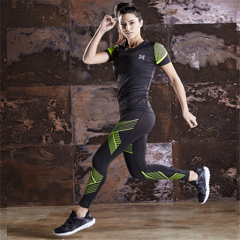 Quick Dry Sports Suit Women Running Training Sets Sports -1528