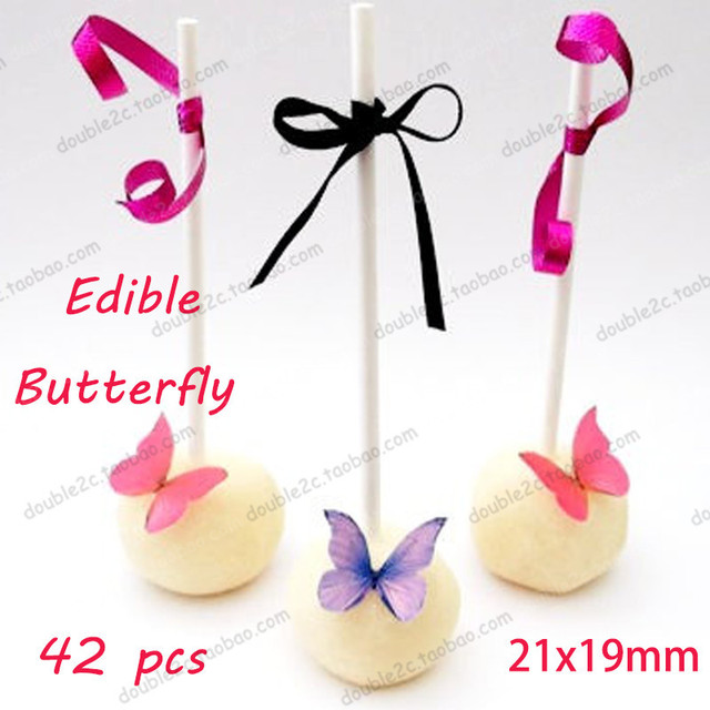 49136b8c70 US $6.5 |Easter Edible butterflies 41pcs 3D mini edible butterfly cake  decorations,idea decoration wafer paper for cake-in Cake Decorating  Supplies ...