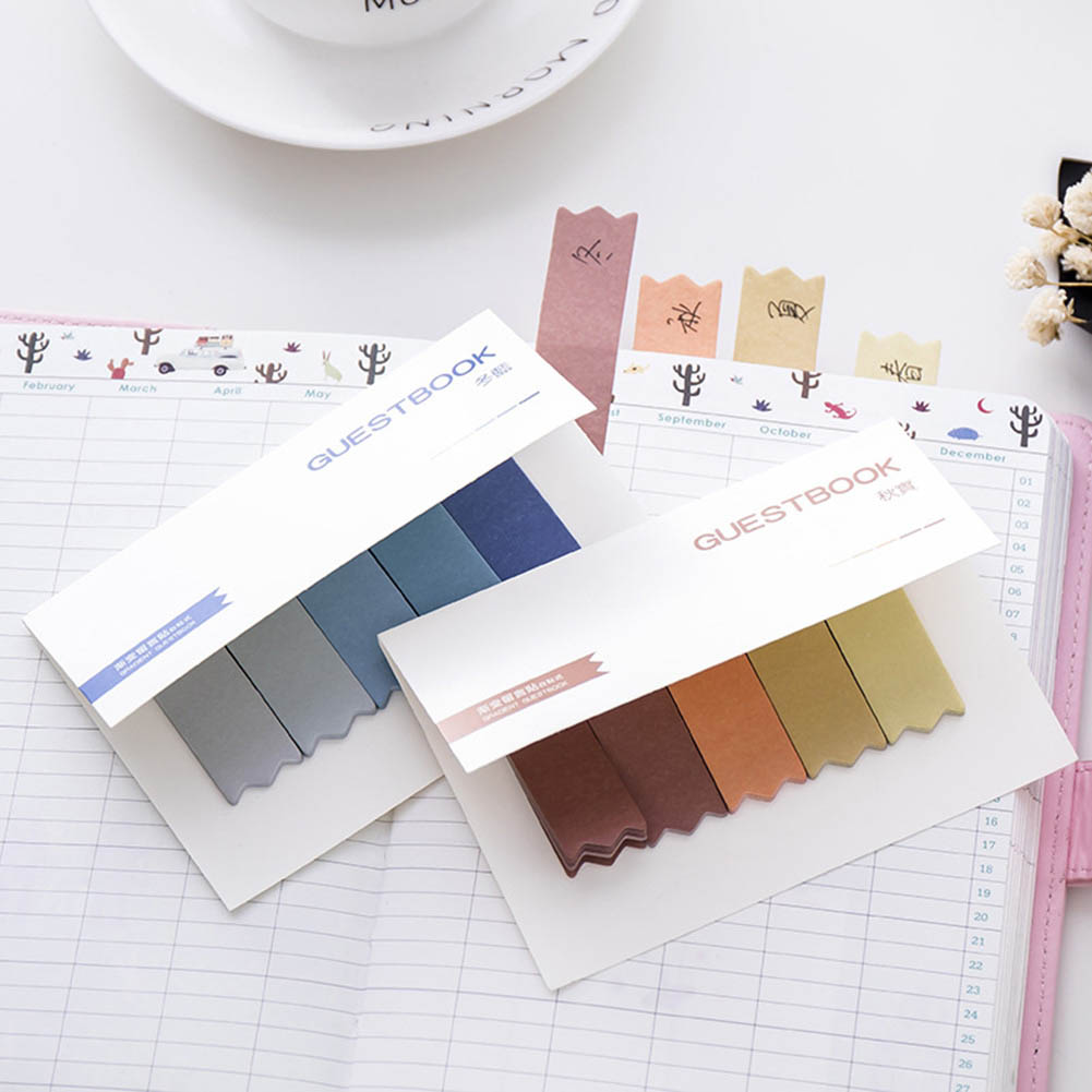DIY Gradient Color Creative Office Novelty Sticky Notes Planner Stickers Page Index Post It Office School Supplies Stationery