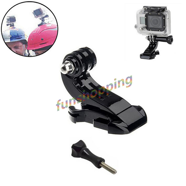 US $1 4 12% OFF J Hook Buckle Flat Base Vertical Surface Mount Quick  Release Adapter+screw for GoPro Hero 6 5 4 3+3 2 Camera Accessories J  Hook-in