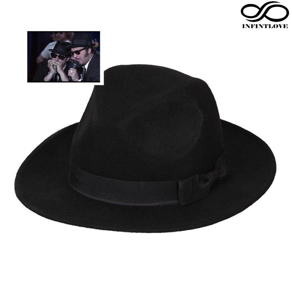 6b671d53 LUCKYLIANJI Women Men Elegant Bowknot Ribbon Band Fedora Jazz Wool Felt  Bowknot Panama Hat Bowler Wide
