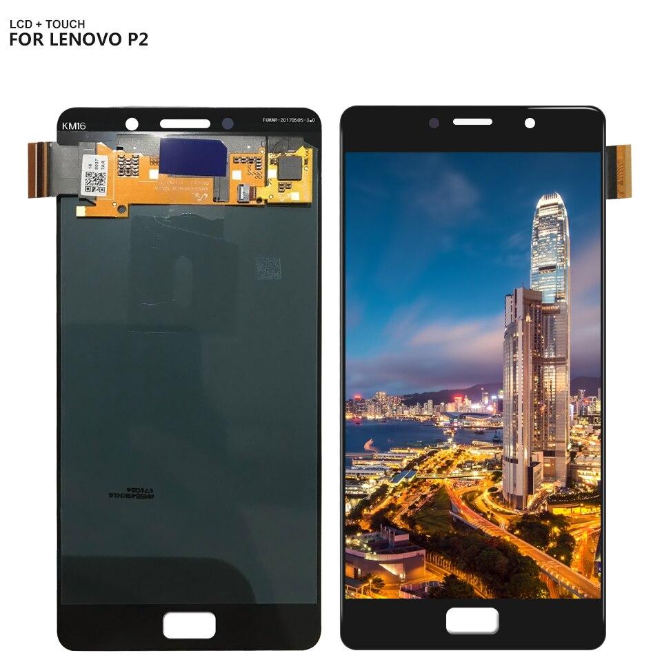 Pour 5.5 Lenovo Vibe P2c72 P2a42 P2 LCD Affichage à L'écran Tactile Digitizer Assemblée Capteur avec des Outils Libres