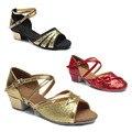 Salón de baile de Salsa tango zapatos de baile latino mujeres Marcas tacones bajos de baile para niños niñas mujeres niños zapato de las señoras