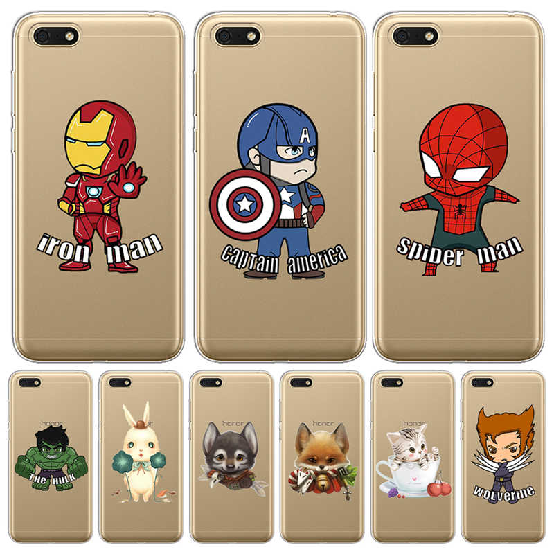 Marvel cartoon phone case cover For Huawei P8 P9 P10 P20 P30 Lite Plus Pro P Smart 2017 Mate 9 10 20 Honor 6A 6X 7 7X 7C Luxury