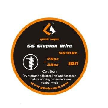 D'origine GeekVape Clapton SS316 De Bande (26GA + 30GA) haute qualité et DIY amical
