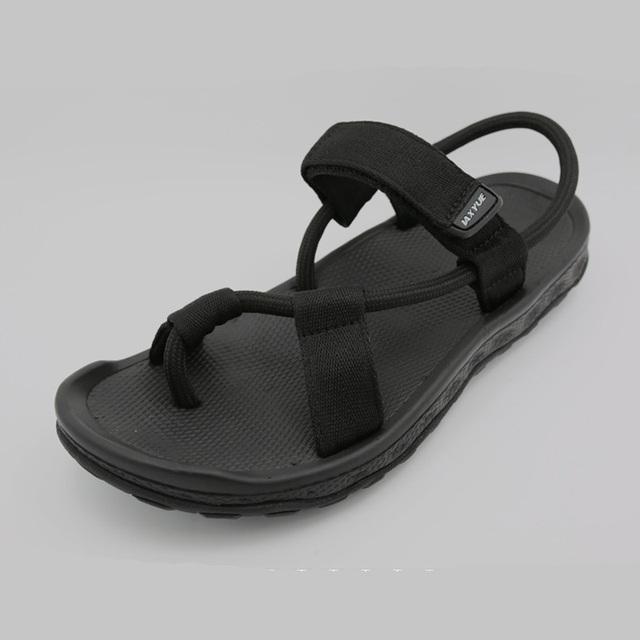 2016 Nuevas Sandalias Casuales Hombres Zapatos Vietnam Negro Flat Beach Summer Flip Flops Calzado Cómodo