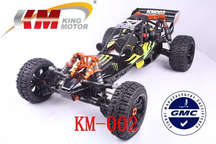 KM BAJA 5b 1/5  SCALE 29CC GAS Powered Engine RC Car/Truck Top Speed 80km/h rovan gas baja 30 5cc 4 bolt chrome engine with walbro carb and ngk spark plug for 1 5 scale hpi km losi rc car parts